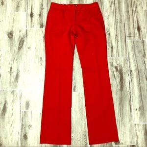 Express Red Editor Cut Dress Pants